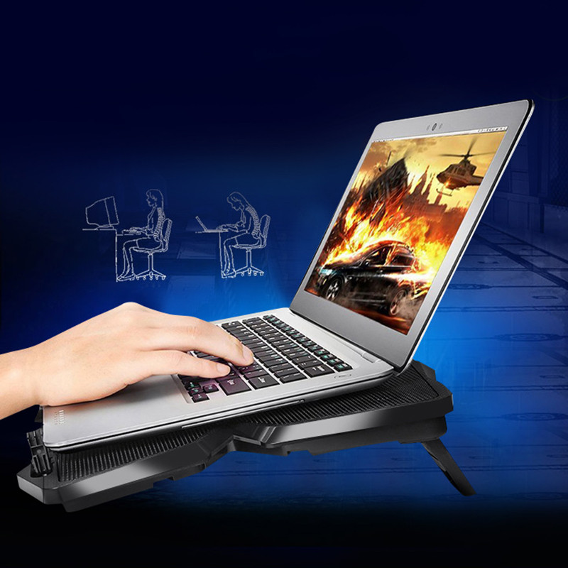 Laptop Stand USB laptop Cooler With Four Fans Ventilador Usb Cooler Notebook For 13.3~17inch Laptops Gaming Daily Use