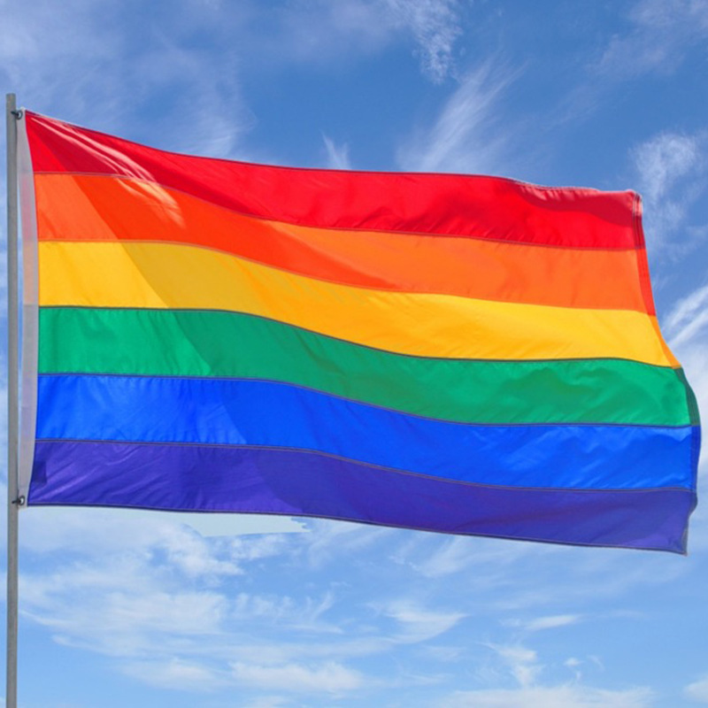 New Arrivals 90Cm X 150Cm Rainbow Flag 3X5 Ft Polyester Flag Gay Pride Peace Flags-In Flags -6939