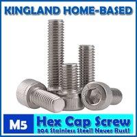 M5 DIN912 Hexagon Socket Head Cap Machine Screws Allen Metric 304 Stainless Steel Bolt HEX Socket