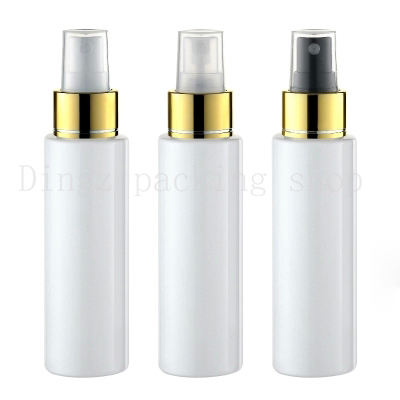 30pcs Mini Plastic white 100ml Small Empty Spray Bottle For Make Up And Skin Care Refillable