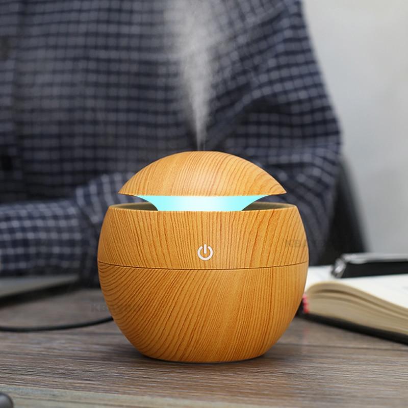 USB Aroma Ätherisches Öl Diffusor Ultraschall Luftbefeuchter Luftreiniger 7 Farbwechsel Led-nachtlicht für Office Home