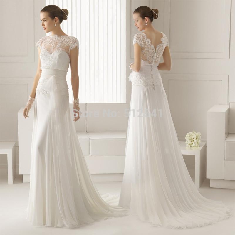 Sheath Wedding Dresses 2019: Short Sleeves Vestido De Noiva Robe De Mariee 2019 Wedding