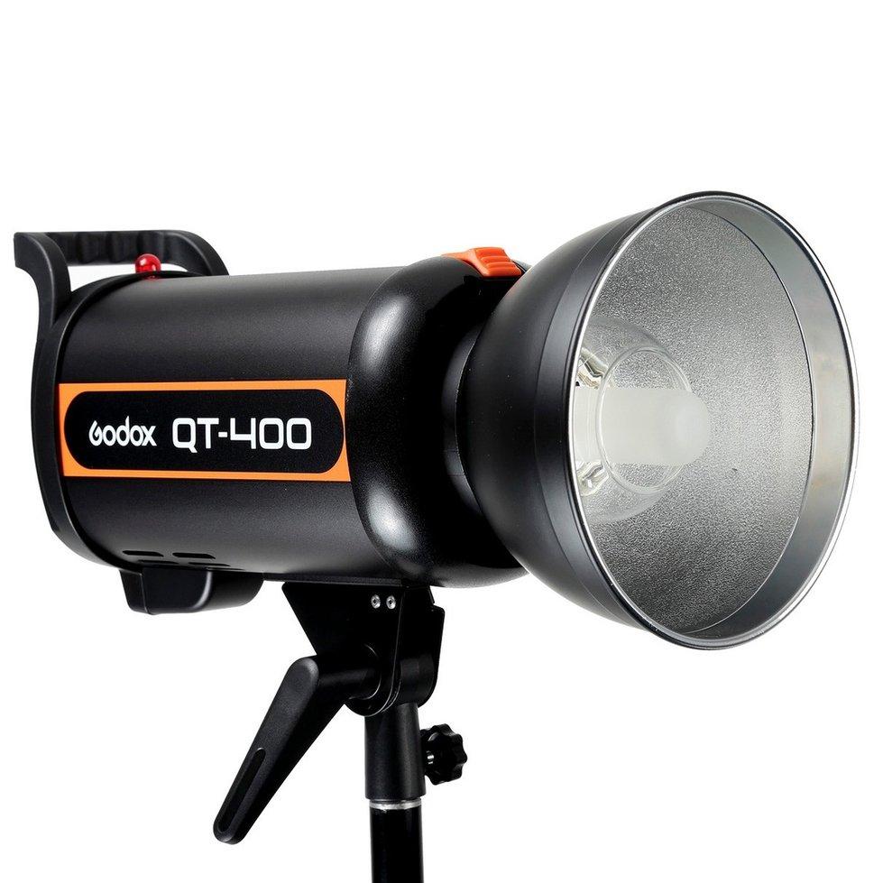 Godox QT-400 AC100-120V/60Hz 400W Fast Duration Flash Lighting Lamp Studio Strobe Head 1/5000s AC100-120V/60Hz