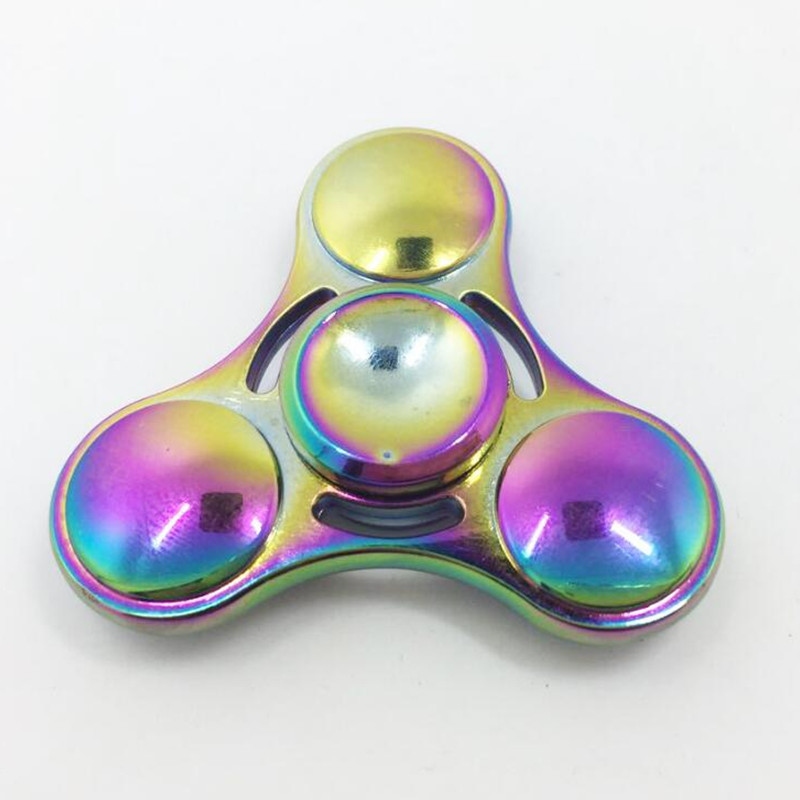 Handspinner Toy Triangular Fidget Hand Spinner Metal Copper Material Finger Spinners For Autism Stress Wheel Multicolor