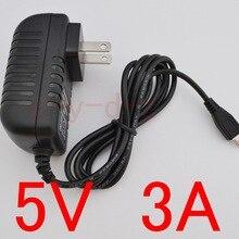 50 шт. высокое качество 5 В 3A Micro USB AC/DC адаптер питания США Plug зарядное устройство питания 5V3A для Raspberry Pi zero другие