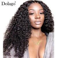 13x6 Синтетические волосы на кружеве человеческих волос парики для Для женщин глубоко бразильский Синтетические волосы на кружеве al парик бе
