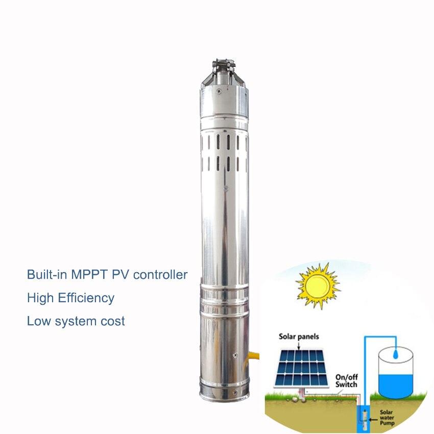 24 V DC Brushless bomba de Água Submergível Solar de Aço Inoxidável S242T 40 3 ''2m3/h 40 m Cabeça para PV Sistema de Bombeamento