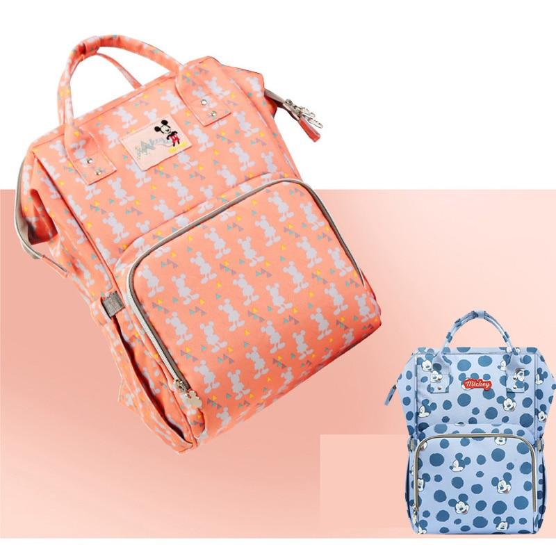 Disney Mummy Maternity Travel Backpack diaper bag backpack Nappy Bag Large Capacity Baby Bag Stroller Care