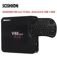 Scishion V88 мини ТВ коробка rk3229 Мали-400 4 ядра Android 6.0 1 ГБ + 8 ГБ Коди 3D Телевизионные антенны airPlay miracast Smart Media Player