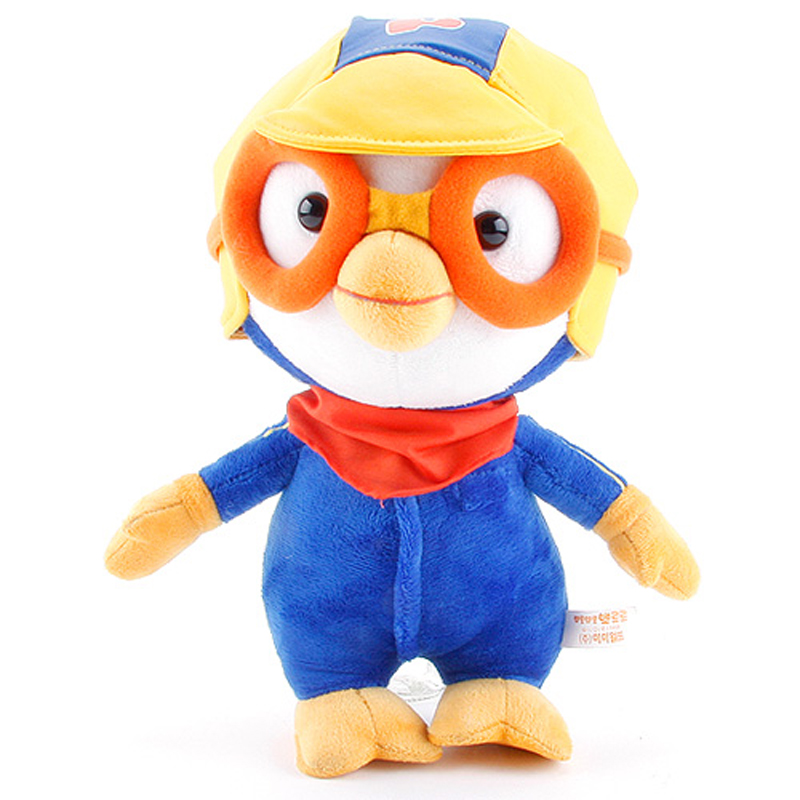 30cm Cute Korea Pororo Little Penguin Plush Toys Doll Pororo With Glasses Plush Soft Stuffed Animals Toys for Children Kids Gift 5pcs lot pikachu plush toys 14cm pokemon go pikachu plush toy doll soft stuffed animals toys brinquedos gifts for kids children