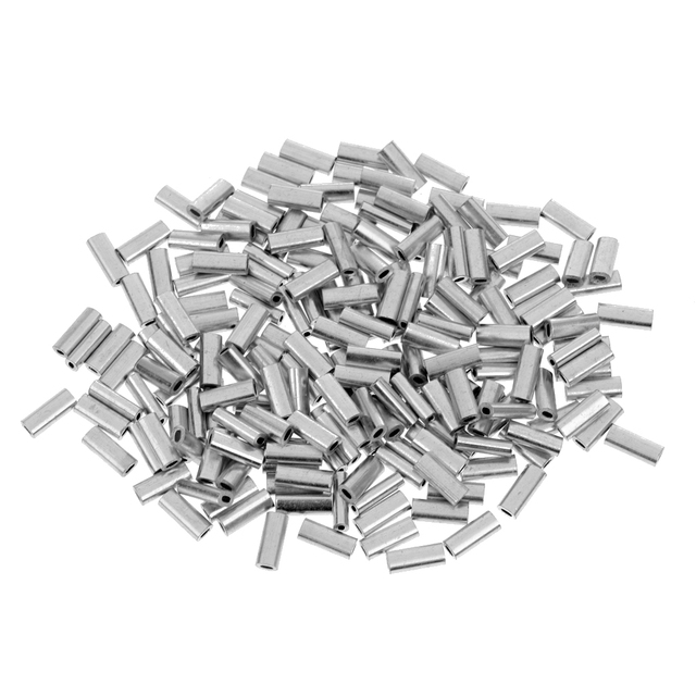 200pcs Fishing Line Crimp Wire Leader Sleeve Tube Fishing Connector 1.0mm/1.2mm/1.5mm