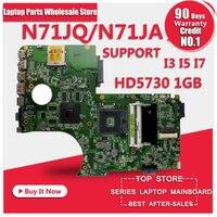 Originale N71J N71JA N71JQ 2.1 Madre Del Computer Portatile per ASUS Supporto I3 I5 I7 cpu 1 gb 60-NYDMB1000 D11 69N0H1M10D11 Scheda Madre