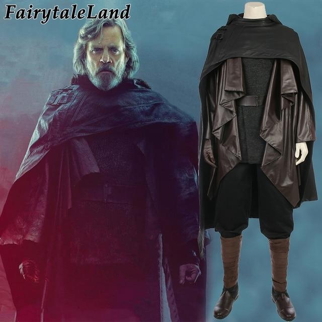 Star Wars  The Last Jedi Luke Skywalker Costume Adult  Carnival Halloween costume Old Luke Skywalker Cosplay costume suit