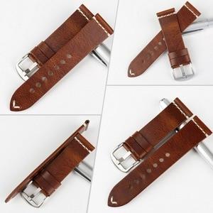 Image 2 - MAIKESนาฬิกาอุปกรณ์เสริมวัวหนังสร้อยข้อมือสีน้ำตาลVINTAGEนาฬิกา 20 มม.22 มม.24 มม.สำหรับfossil Watch
