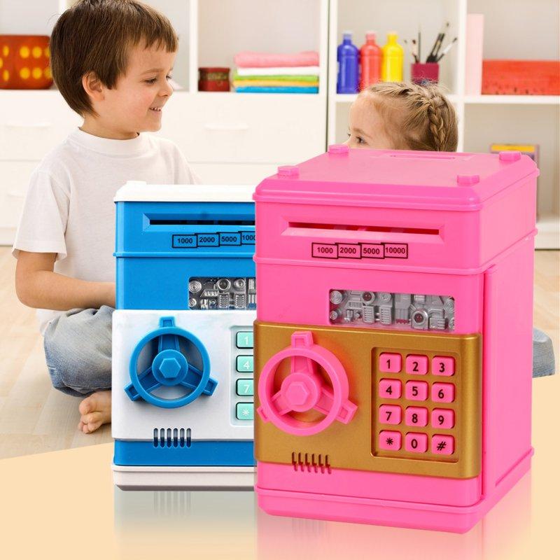 Creative Design Children Safety Electronic Piggy Bank Code Digital Coins Cash Deposit Money Box Secret Mini ATM Machine