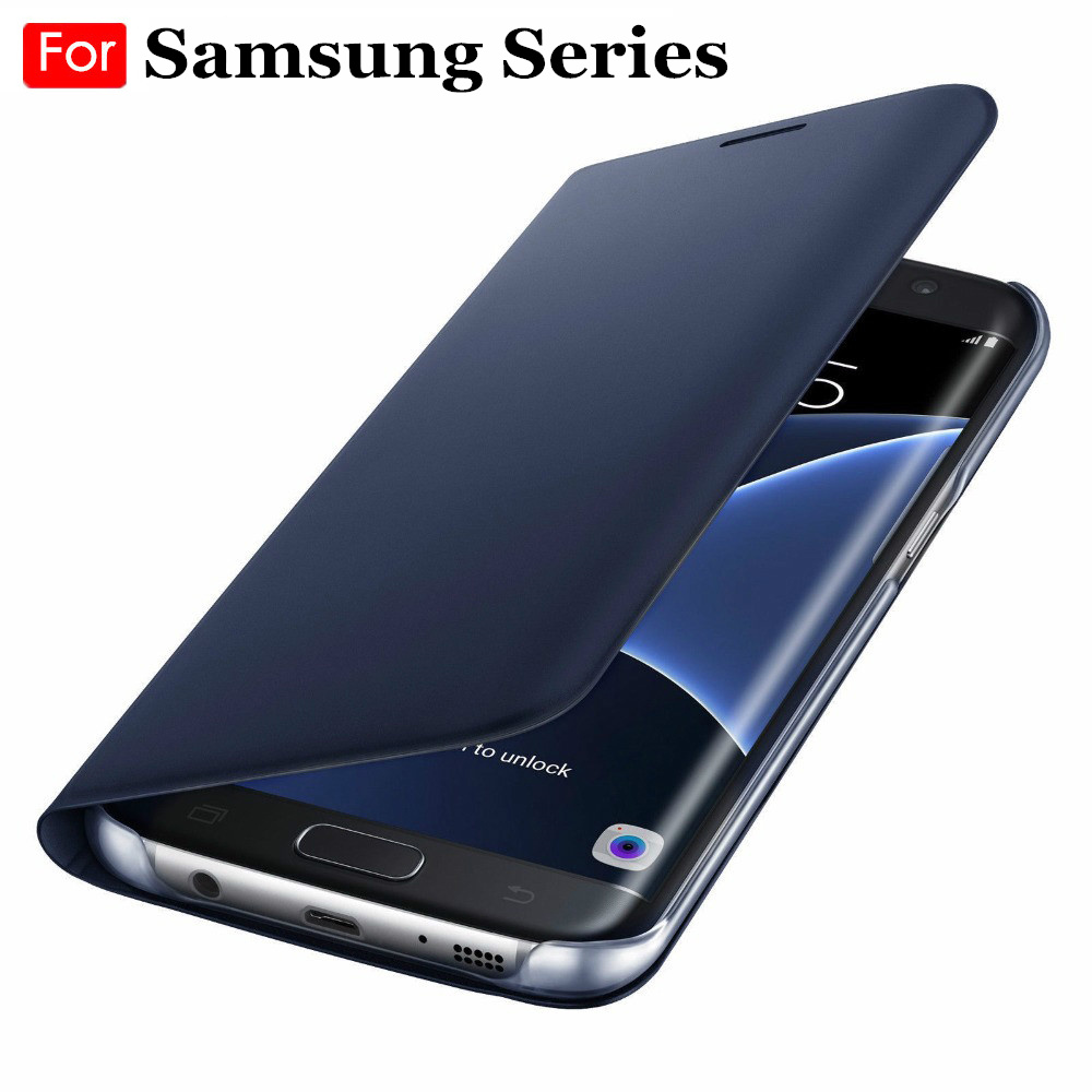 <font><b>Case</b></font> Cover For <font><b>Samsung</b></font> Galaxy S10 A30 A50 M10 M20 J4 J6 S9 S8 Plus S7 <font><b>S6</b></font> <font><b>Edge</b></font> A6 A8 A9 A7 2018 <font><b>Flip</b></font> Leather Wallet Card Holder image