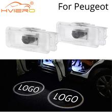 Welcome Light Door Led Projection Lamp Laser for Peugeot 508 408 RCZ 1007 307 407 5008 607 806 Car Bulb Neon
