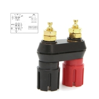 Dual 4mm Banana Plug Jack Socket Binding Post for Speaker Amplifier Terminal Connectors