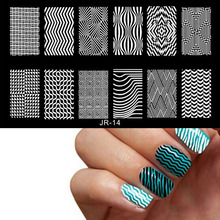 JR14-30 1pc Nail Stamping Plates Flowers&Geometric Image DIY Nail Art Stamp Stamping Template Image Plate For Stencil Nails Tool 1pc rectangles nail plate stamp diy stainless steel stamping plates 6 5 12 5cm nail art stamping image template plates spv0130