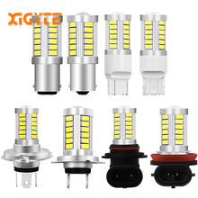 Super White H4 H7 H8 H11 9005 9006 1156 1157 33SMD LED Auto Fog Lamp 차 Bulb 6000 천개 와 렌즈 5630 LED 칩 12 볼트 차 스타일링(China)