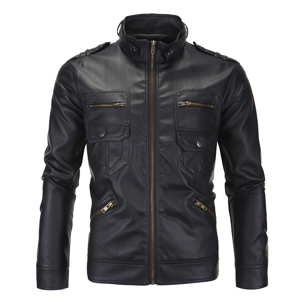Herobiker Classic Motorcycle Jacket Men PU Leather Jacket Motorcycle Stand Collar Retro Casual Biker Windproof Moto Jacket M-5XL stand collar pu leather long sleeve linellae design men s jacket