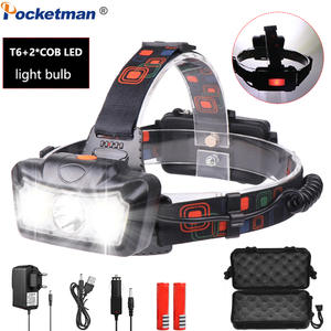 T6+COB LED Headlight 30000LM Waterproof Headlamp Head Torch Rechargeable with 4 Modes Head Lamp Flashlight Lanterna Head Light