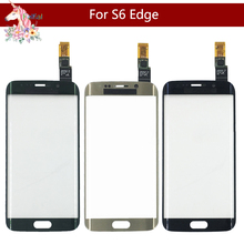 цена на Original For Samsung Galaxy S6 Edge G925F G925A and S6 Edge+ S6 Edge Plus G928 G928F Front Outer Glass Sensor Touch Screen Panel