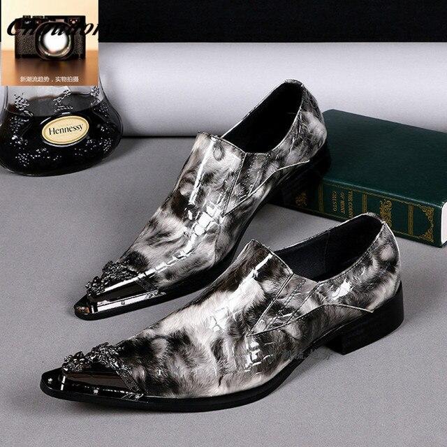 outlet store 6f3f1 50452 Impression-de-mode-Bout-Pointu-Hommes-Richelieus-Chaussures-Chaussure-Homme -Italie-Conception-Hommes-En-Cuir-D.jpg 640x640.jpg