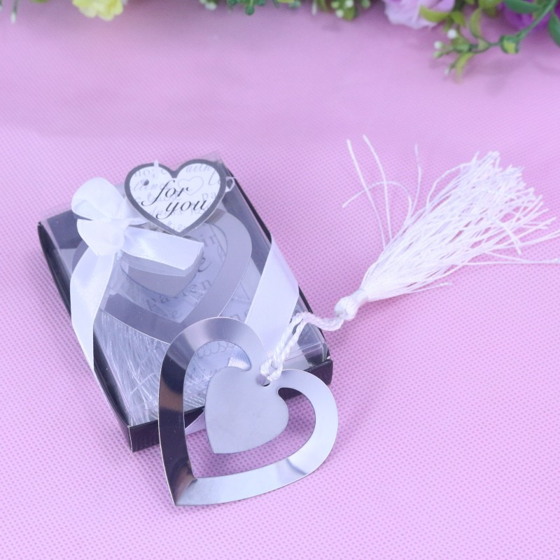 50pcs/set Bulk My Heart Bookmark For Party Boy Girl Baby Shower Souvenirs Graduation Baptism Wedding Favour And Gifts For Guest