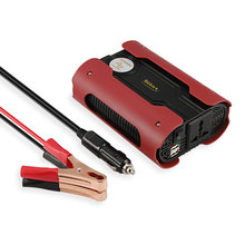 Red 500W Peak 1000W Modified Sine Wave Power Inverter Car Power Converter with 2 USB Port DC 12V For Home Appliance new design 500w solar all in one inverter with built in 20a controller dc 12v portable inverter with charging usb port for phone