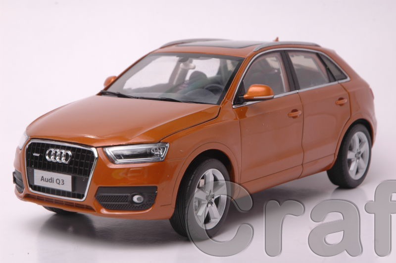* Orange 1:18 Car Model AUDI Q3 2013 SUV Diecast Model Classic Toys Car Replica Luxury Collections