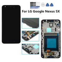 Black LCD Display Touch Screen With Digitizer Assembly Bezel Frame For LG Google Nexus 5X H790
