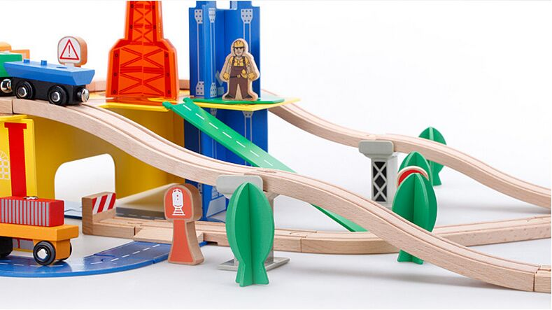 Thomas and His friends DIY Wooden railroad Railway Wooden Train Track Toy Building Blocks Set Train
