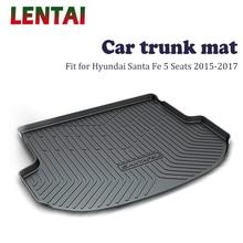 EALEN 1PC rear trunk Cargo mat For Hyundai Santa Fe 5 Seats 2015 2016 2017 Boot Liner Tray Waterproof Anti-slip mat Accessories