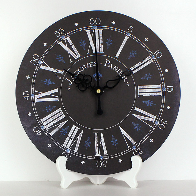 wholesale modern design roman number more quite table clock waterproof clock face living room decoration desktop clock gift
