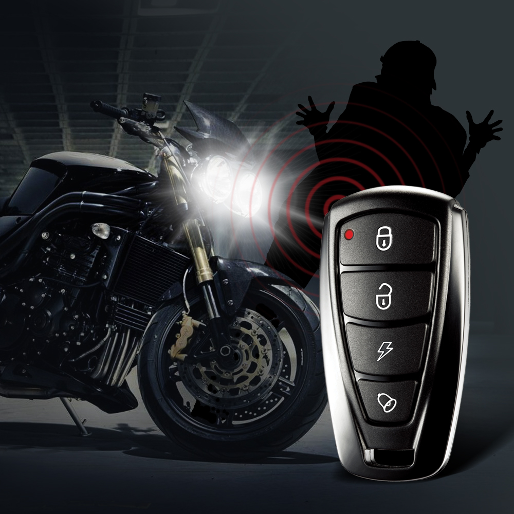Steelmate 986F 1 Way Motorcycle Alarm System Engine Immobilization Remote Engine Start with Two Transmitter easyguard pke car alarm system remote engine start stop shock sensor push button start stop window rise up automatically