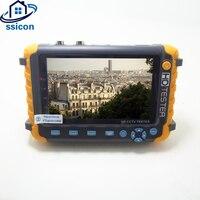 SSICON 5MP видеонаблюдения Камера Тесты er с 5 дюймов TFT ЖК дисплей монитор для 4 в 1 TVI AHD CVI аналоговый Cam Тесты er аудио видео Тесты