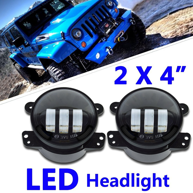4'' 30W front bumper led fog light for Jeep Wrangler 2-Door JK 07-15 for 2005Chrysler 300 LED Headlamp for jeep wrangler jk anti rust hard steel front