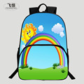 FEIHENG Brand Cool Polyester 16 Inch Printing Rainbow Cartoon Girl School Bags Kids Baby School Backpack Children Student Bag