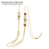 Neoglory MADE WITH SWAROVSKI ELEMENTS Chains Necklace Discount Crystal Jewelry European Style