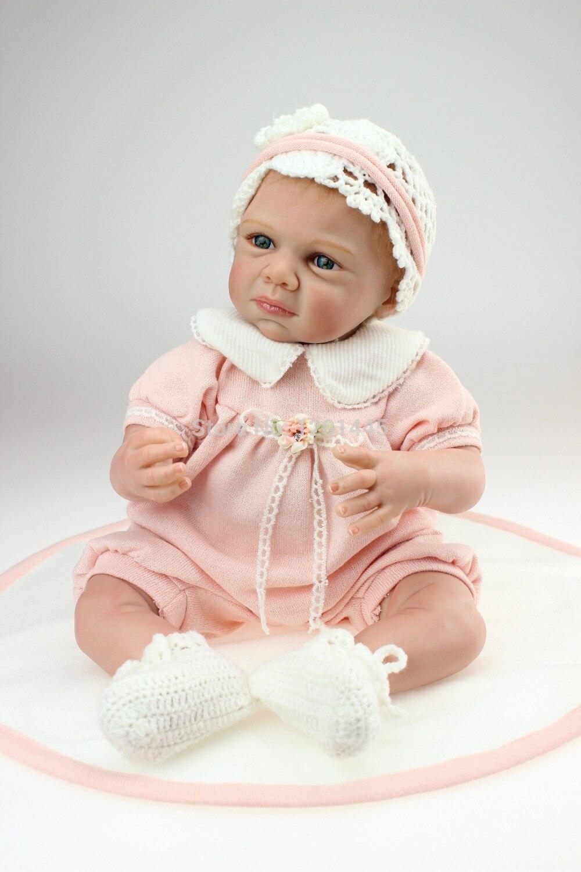 NPK Reborn bébé Poupées BRICOLAGE Jouets 20 pouce Réaliste Silicone Bébés Poupée Tactile Doux Bande Dessinée bebe Bonecas filles cadeaux plamates