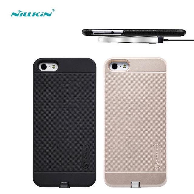 Original de nillkin magia carga transmisor cargador inalámbrico qi receptor caso de la cubierta de alimentación para apple iphone se 5 5s