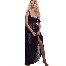 Plus Size Sexy Summer Style Boho Intimately Sheer Floral Lace Maxi Dress Long Women Dresses Romantic Layering Vestidos EG6156