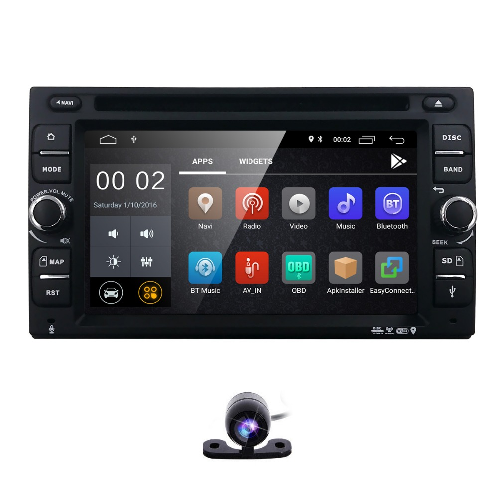 Hizpo 6.2 inch Android 8.1 Car Auto Radio DVD Player For Universal Radio Nissan Navgation WiFi Subwoofer 2GB RAM+16GB ROM DTV IN