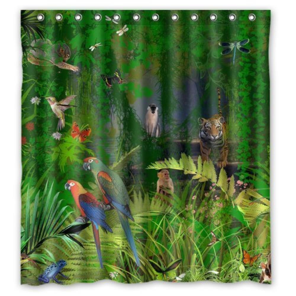 Rainforest shower curtain - Spring Forest Stream Shower Curtain By Showercurtain