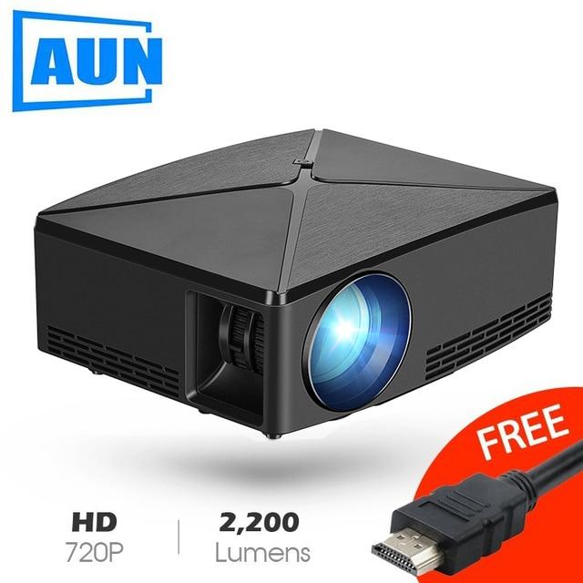 Aun proyector c80 up, 1280x720 해상도, 2200 루멘, 안드로이드 wifi hd 비머, 홈 시네마, 옵션 c80 미니 프로젝터