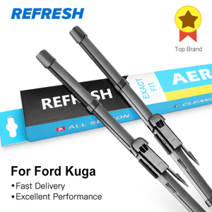 REFRESH Windscreen Wiper Blades for Ford Kuga Mk1 / Mk2 Fit Pinch Tab Arms / Push button Arms Model Year From 2008 to 2018(China)
