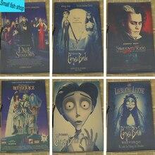 Tim Burton Xác Chết Của Cô Dâu Tim Burton Johnny Depp Đồ Mặc Nhà Trang Trí Kraft Phim Retro Poster Vẽ Core Dán Tường