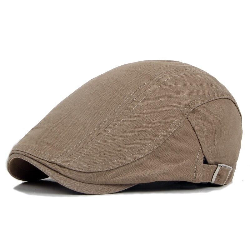 Primavera verão Inglaterra estilo boinas chapéu da boina para mulheres dos  homens algodão liso jornaleiro chapéu bico de pato chapéu de sol em branco  do ... 13e82eb27d8