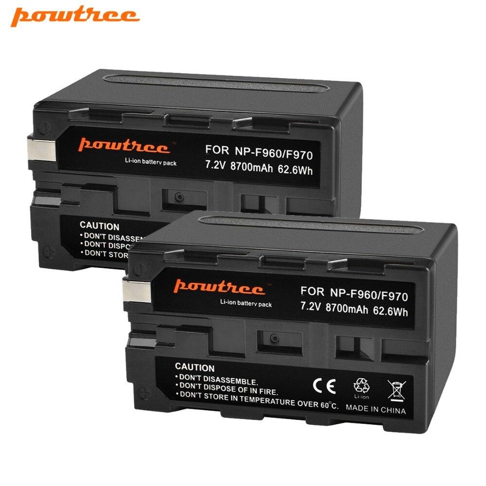 2X7.2 V 8700 mAh NP-F960 NP-F970 Batterie pour Appareil Photo Sony NP F960 F970 NP-F770 F550 CCD-TRV58 TRV110K TRV26E HVR-Z1 V1J L10